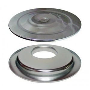 PRO-TEK CHROME AIR FILTER TOP AND BOTTOM