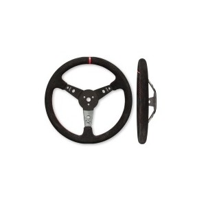 LONGACRE SUEDE DISHED STEERING WHEEL