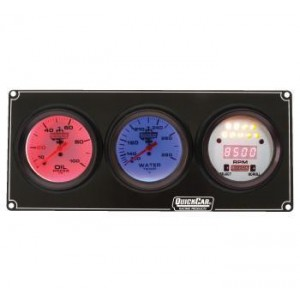QUICKCAR EXTREME 2-GAUGE PANEL WITH TACH
