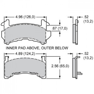 WILWOOD GM METRIC BRAKE PAD SET