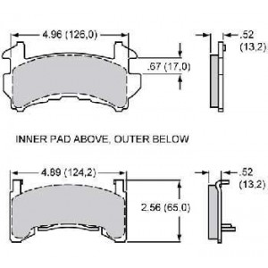 WILWOOD GM METRIC BRAKE PADS
